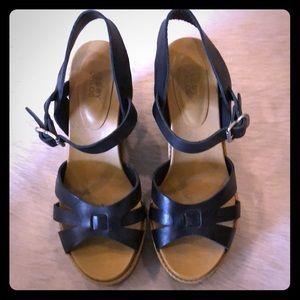 See By Chloe black wedge sandals